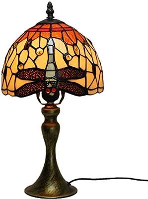 Lámparas de mesa estilo Tiffany, modelo libélula, lámpara de ...