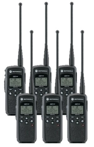 Amazon com: 6 Pack of Motorola DTR550 Two way Radio Walkie Talkies