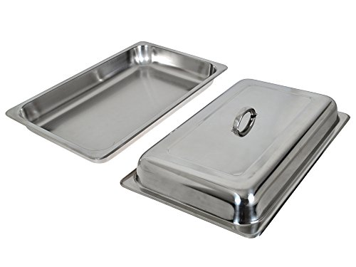TMS Set of (2) 8 Quart Stainless Steel Rectangular Chafing Dish Full Size Buffet Catering by TMS (Image #7)