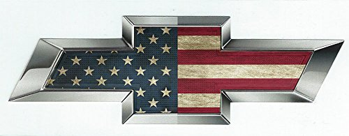 Silverado Bow Tie Chevy Tail (American Flag Chevy Bow Tie Emblem Silverado 1500 Custom Chevy Bowtie Emblem for Grill OR Chevy Silverado Tailgate Emblem No Boring Black Chevy Bowties or Cheap Black Chevy Bowtie Overlay)