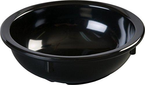 Carlisle Kingline Nappie Bowl (Carlisle KL11803 Kingline Nappie Bowls, Set of 48 (10-Ounce, Melamine, Black, NSF))