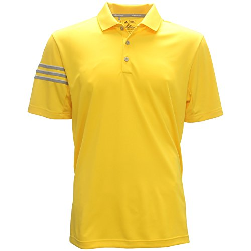 Mens Climacool 3 Stripes (adidas Golf Men's Climacool 3-Stripes Polo, Eqt Yellow, Medium)