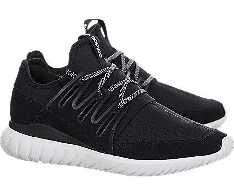 Adidas Men's Tubular Radial Running Shoes Core Black / Vintage White 8 D(M) US