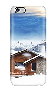 For Iphone 6 Plus Premium Tpu Case Cover House On Snow Protective Case
