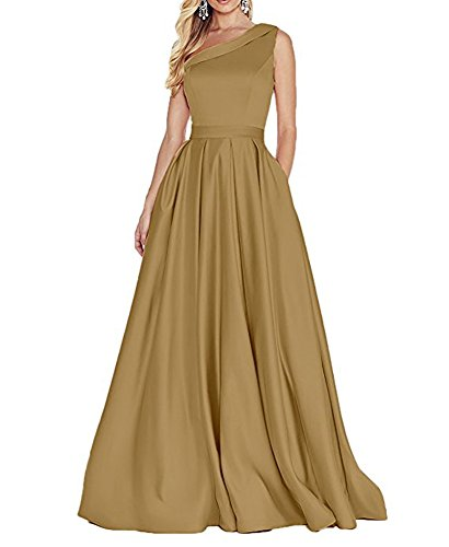Beauty Damen of Kleid Linie Gold Leader the A v1wnqxaZB