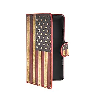 CASEPRADISE U.S American Flag Slim Wallet Card Pouch Flip Leather Etui Stand Case Cover For Nokia Lumia 930