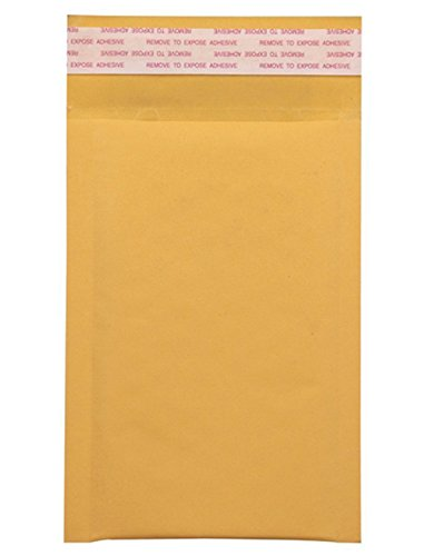 Mailer Plus #000 4x8' Kraft Bubble Mailers Gold Self Seal Padded Envelopes Pack of 50