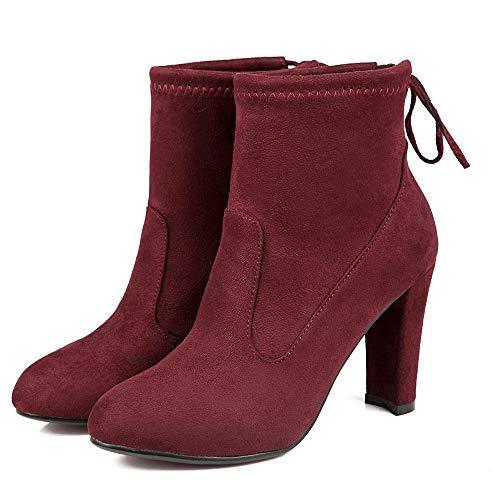 Schuhe Leder Winter Heels High und und Mode Herbst dick HCBYJ Heels Stiefel und Stiefel High wild Rutschfeste und wFqn4z6I