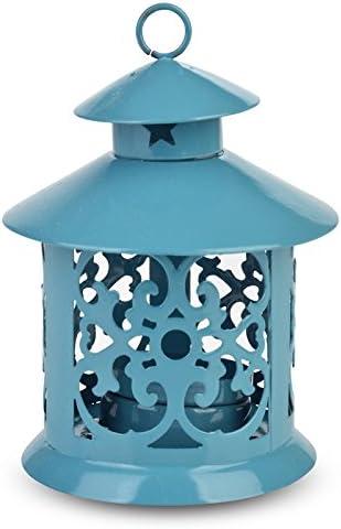 Paperlanternstore.com 5 Turquiose Round Hurricane Candle Lantern