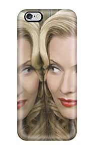 Awesome Design Blonde Reflection Female Beautiful Face Red Lips Mirror People Women Hard Case Cover For Iphone 6 Plus