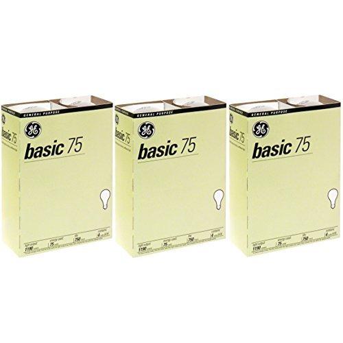 GE 41030-12 75-Watt A19, Basic, 12-Pack…