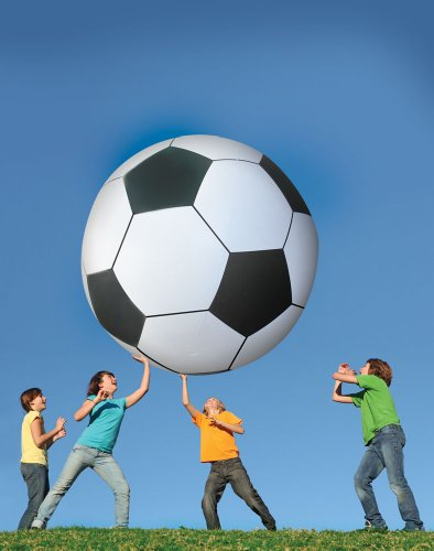BigMouth Inc Gigantic 6' Foot Tall Soccer Ball, Made of Durable Plastic, Patch Kit Included ()
