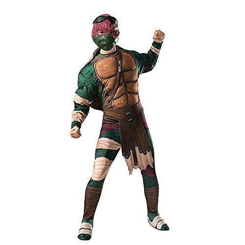 TMNT Movie Raphael Mens Costume (Standard up To Size 44 Chest) (Teenage Mutant Ninja Turtle Raphael Adult Mask)