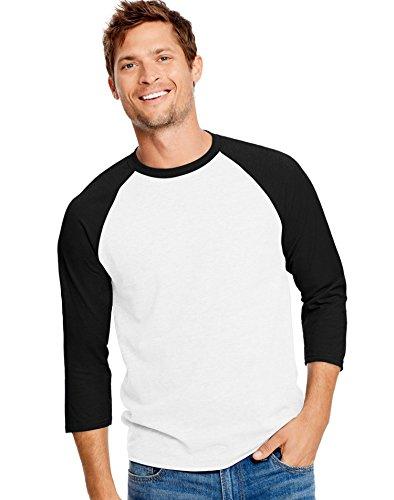 Performance Baseball Tee, 42BA, M, White/Black (Baseball Black Tee T-shirt)