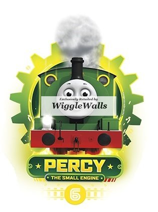 Thomas The Tank Wall Border - 5 Inch Percy No. Number 6 The Small Engine Thomas the Tank and Friends Removable Wall Decal Sticker Art Home Decor 3 1/2 inches wide by 5 inches tall