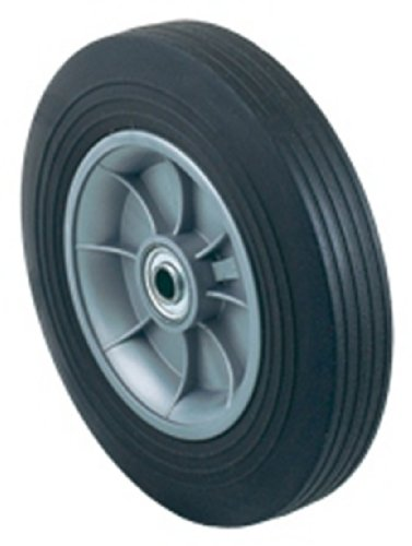 - Harper Trucks WH 86 Flat-Free Solid Rubber 10-Inch by 2-Inch Ball Bearing Poly Hub Hand Truck Wheel