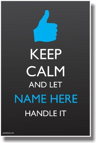 CUSTOM Keep Calm - Thumbs Up - NEW Customizable Humor Poster