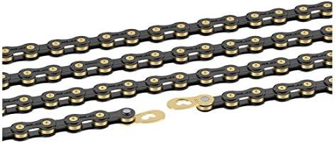 XLC CC de C05 – Cadena de Bicicleta, Color Negro/Oro, 1/2 x 11/128 ...