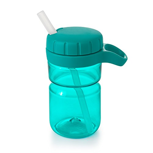 OXO Tot Twist Lid Water Bottle for Big Kids, Teal, 12 Ounce