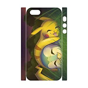Custom Pokemon Desgin Carton TPU Case Cover Unique Durable Hard Plastic Case Cover for 3d iPhone 5/5s