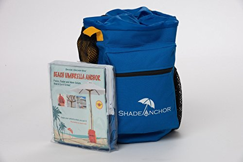 Beach Umbrella Bags (The Original Shade Anchor Bag Beach Umbrella Sand Anchor by Buoy Beach – Works with Any Beach Umbrella on any Type of Sand (Umbrella not Included))