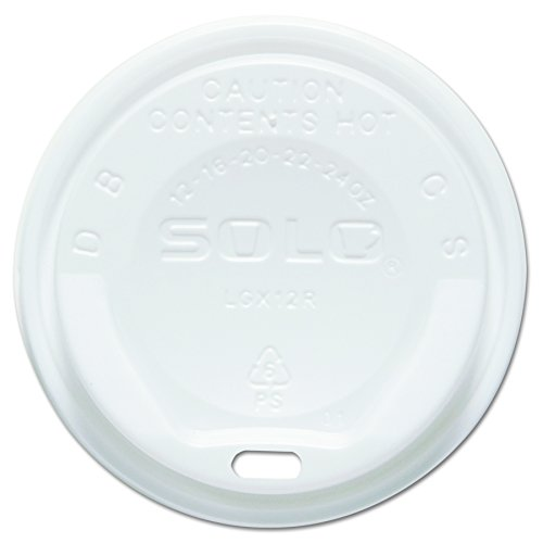 Solo LGXW2-0007 White Plastic Gourmet Dome Lid - For Trophy Plus Cups (Case of 1500) -