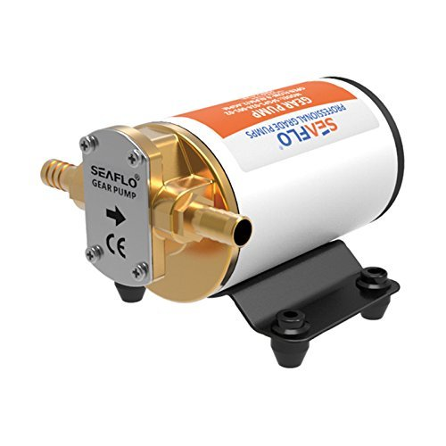 SEAFLO 12v Self Priming Impeller Gear Pump for Diesel Lubricants Machinery Fuel Scavenge Oil Transfer