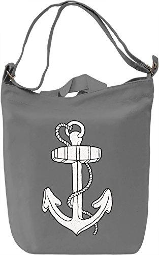 Anchor Borsa Giornaliera Canvas Canvas Day Bag| 100% Premium Cotton Canvas| DTG Printing|