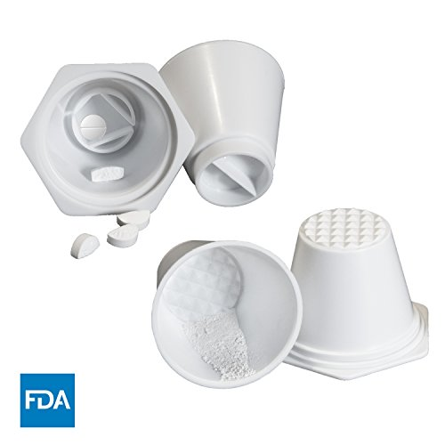 Pill Crusher, Grinder, Splitter cups for tablets, (2 Pack) Easy to Use! by AuroraRL Pill Crusher