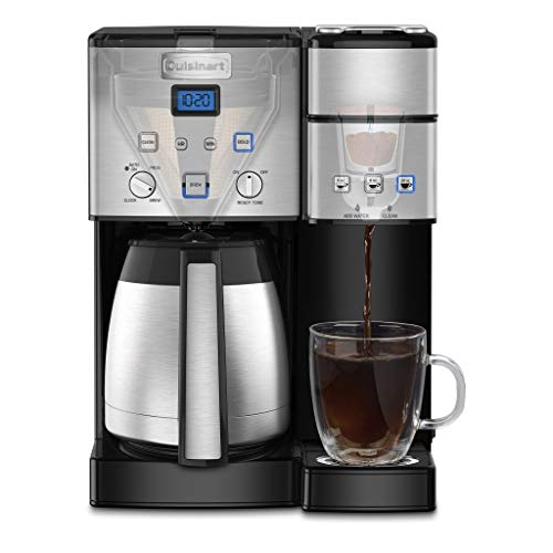- Cuisinart SS-20 Coffee Center 10-Cup Thermal Single-Serve Brewer coffeemaker, Silver