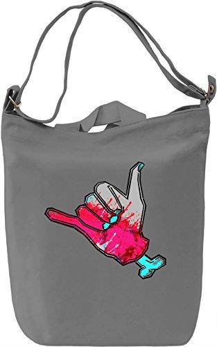 Trippy Borsa Giornaliera Canvas Canvas Day Bag| 100% Premium Cotton Canvas| DTG Printing|