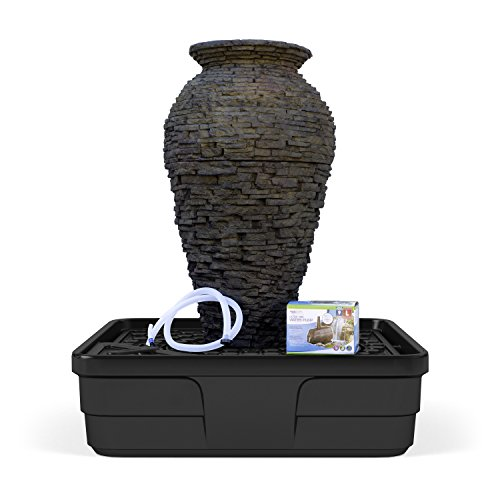 Cascading Urns - Aquascape Medium Stacked Slate Urn Water Fountain Kit for Landscape and Garden | 58090