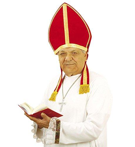 Red Pope Costume (Adult's Velvet Mitre Pope Hat)