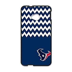 Blue and White Chevron Houston Texans logo Case Cover for Htc One M7Case Cover Shell (Laser Technology)