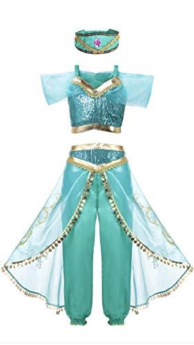 FashionModa4U Arabian Princess Girls Costume Outfit and Headband, 4. -