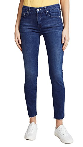 MOTHER Women's The Looker Ankle Fray Jeans, Fast Times, 26 (Fray Denim)