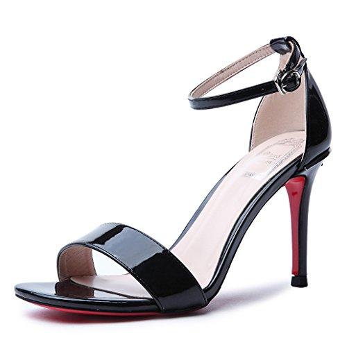 Heel De Tacones Mujer GAOLIM Home De Shoes Alta Verano NegroYo Zapatos Sandalias Diario 5H6BqwOI