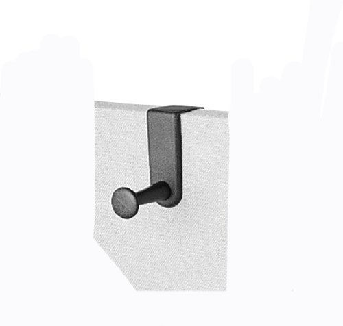 Quartet Over-The-Panel Hook, Single Post, 4.5 Inches, Bla...