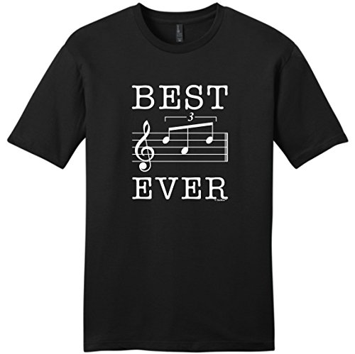Dad Birthday Gifts for Musician Dad Gifts from Son Dad Music Gifts Best Dad Ever Dad Music Note Gift Young Mens T-Shirt 2XL Black