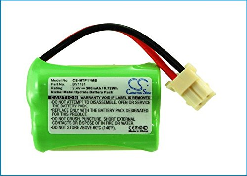 Cameron Sino 300mAh NI-MH Rechargeable Baby Monitor Batteries Replacement for Motorola BY1131 ((2.4V NIMH 300mAh))