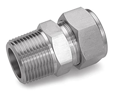 Ham-Let Stainless Steel 316 Let-Lok Compression Fitting, Adapter, NPT Male x Tube OD