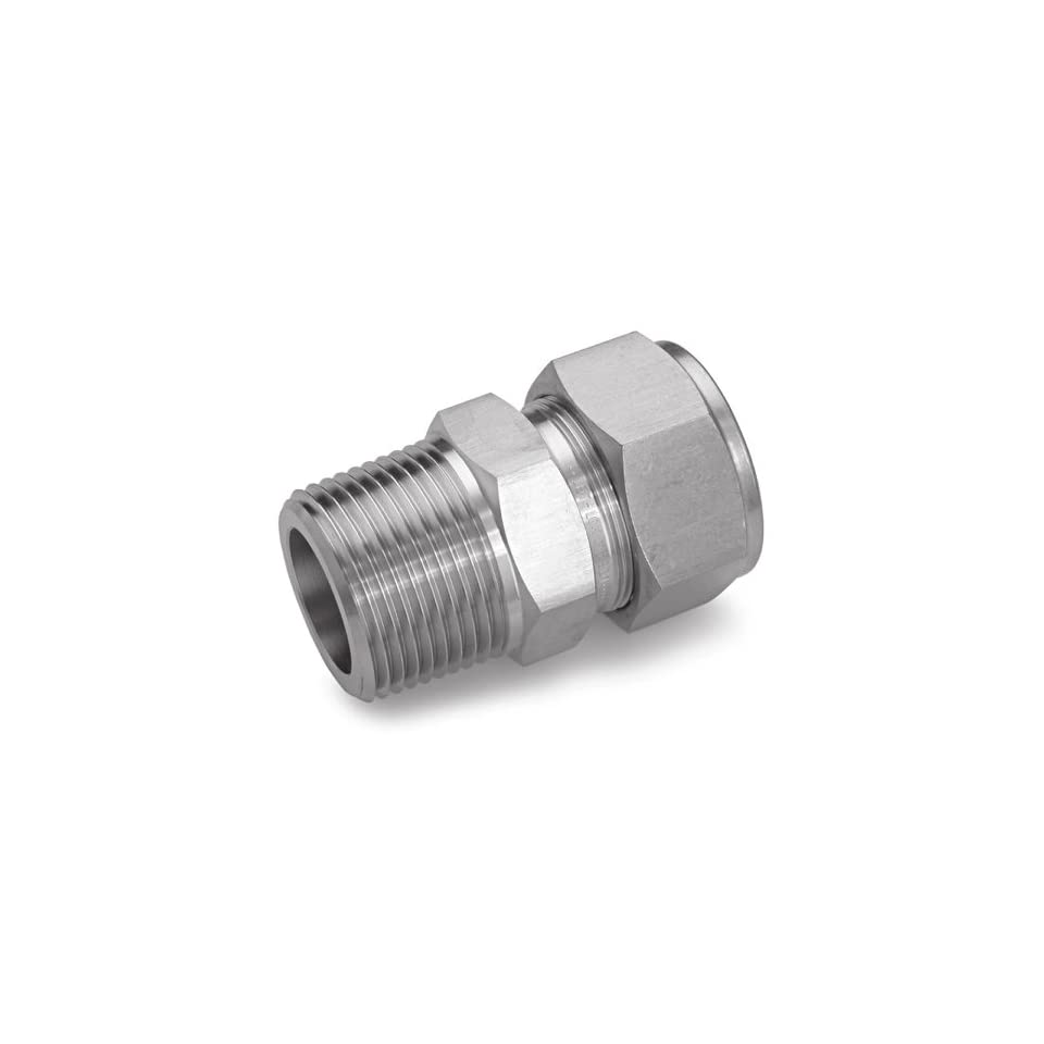 Ham Let Stainless Steel 316 Let Lok Compression Fitting, Thermocouple, Adapter, NPT Male x Tube OD