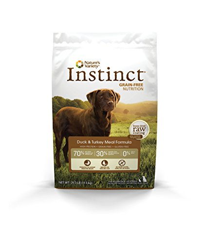 Instinct Original Grain Free Duck & Turkey Meal Formula Natural Dry Dog Food By Nature'S Variety, 25.3 Lb. Bag