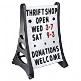 SmartSign A-Frame Message Sidewalk Sign and Letter Kit | 42'' H x 29'' W