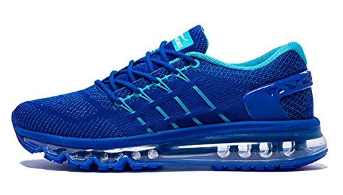ONEMIX Men's Air Running Shoes, Light Gym Outdoor Walking Sneakers Blue Size 10 D(M) US