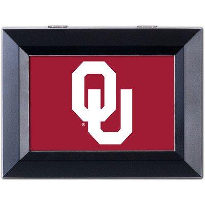 University Keepsake Box - Collegiate Music Jewelry Box Finish: Distressed Black, NCAA Team: University of Oklahoma