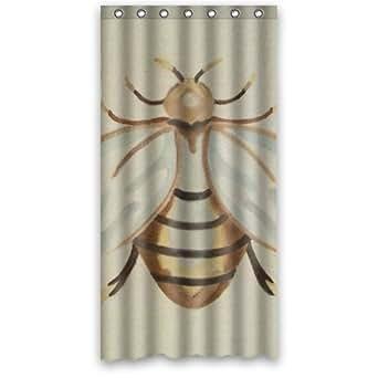 36 w x 72 h cheap vivid painting bee waterproof bathroom shower curtain 100. Black Bedroom Furniture Sets. Home Design Ideas