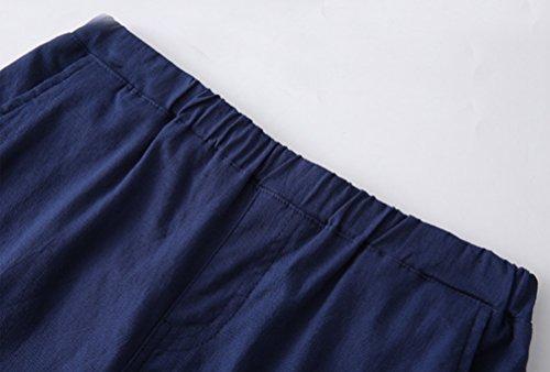 Pantalone Casual Autunno Vita Forti Pantaloni In Donna Elastico Eleganti Taglie Stretch Blu YiLianDa EHw5nPZqx