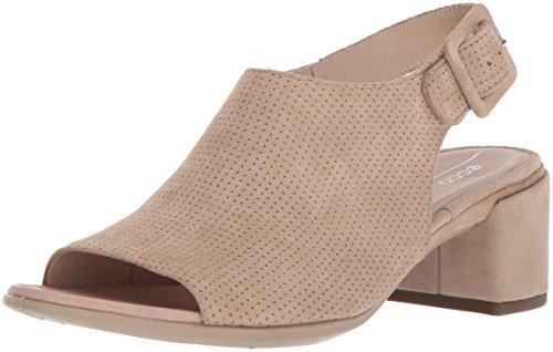 Ecco Donna Da Donna A Forma Di Sandalo Con Tacco Slingback 35 Con Zeppa Dune Nubuck