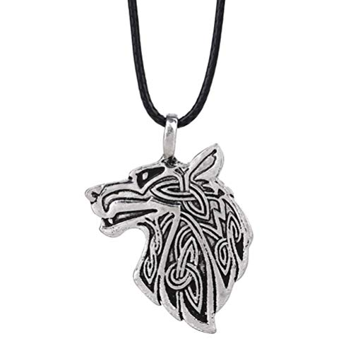 Necklace Laimeng_ World Viking Necklace Animal Teen Men Necklace Fashion Jewelry Pendant Supernatural (G) Coffee